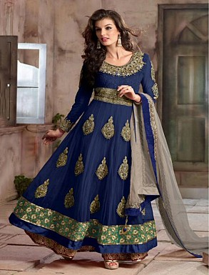 New Attractive Blue Anarkali Suit @ Rs4016.00